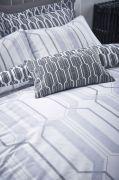 Bianca Cottonsoft Geo Duvet Cover Set Grey - Superking 4