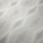 Bianca Cottonsoft Ziggurat Grey Duvet Cover Set - Single 3