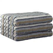 Cawo Lifestyle Stone Stripe - Guest Towel