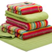 Cawo Lifestyle Stripe Bright - Bath Towel