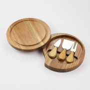 Chefs Companion 4 Piece Round Cheese Set