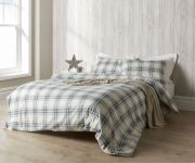 Christy Thurloe Check Duvet Cover Set Blue - Double