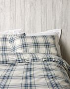 Christy Thurloe Check Duvet Cover Set Blue - Double 2