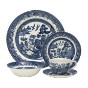 Churchill Blue Willow 20 Piece Dinner Set