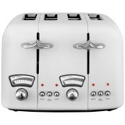 Delonghi Argento 4 Slice Toaster White