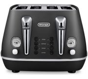 Delonghi Distinta 4 Slice Toaster - Black