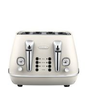 Delonghi Distinta 4 Slice Toaster - White