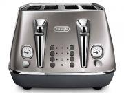 Delonghi Distinta Flair 4 Slice Toaster - Silver