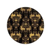 Denby Black and Gold Round Set of 6 Coasters