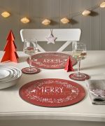 Denby Set of 6 Merry Little Christmas Coasters