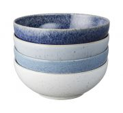 Denby Studio Blue 4 Piece Cereal Bowl Set