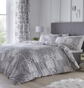 Dreams and Drapes Marinelli Grey Duvet Cover Set - King