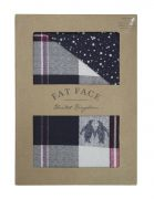 Fat Face Penguin Check Duvet Cover Set - King 2