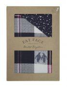 Fat Face Penguin Check Duvet Cover Set - Single 2
