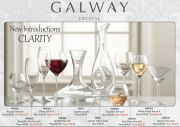Galway Crystal Clarity Glassware - Martini Glass Set of 6