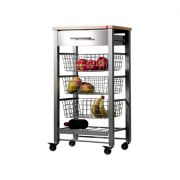 Hahn April Kitchen Trolley - Grey and Beech
