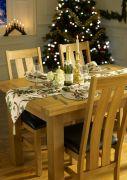 Holly Ribbon Christmas Table Runner 14