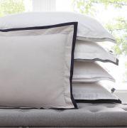 Karen Millen Signature Pillowcase Pair - White/Black