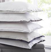 Karen Millen Signature Pillowcase Pair - White/Black 2