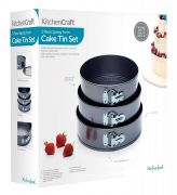 Kitchen Craft 3 Piece Spring Form Cake Tin Set
