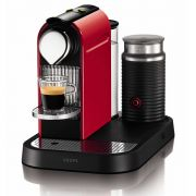 Krups Citiz Nespresso Coffee Maker & Aeroccino Milk Frother - Red