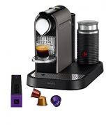 Krups Citiz Nespresso Coffee Maker & Aeroccino Milk Frother - Titanium