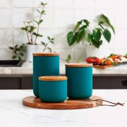 Ladelle Stak Soft Matt Teal 9cm Cannister 3