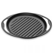 Le Creuset 25cm Cast Iron Round Grill Pan - Satin Black