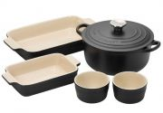 Le Creuset 5 Piece Starter Set - Black