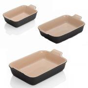 Le Creuset Stoneware 3-Piece Deep Dish Set - Flint