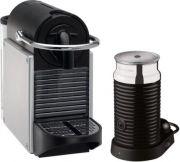 Magimix Pixie Nespresso Coffee Maker & Aeroccino Bundle - Aluminium