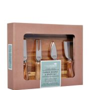 Masterclass Acacia Wood Cheese Board & Knife Set