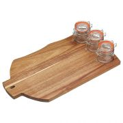 Masterclass Acacia Wood Serving Set