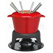 Masterclass Cast Iron Fondue Set Red