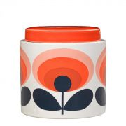 Orla Kiely 70s Oval Flower Ceramic Storage Jar - Orange