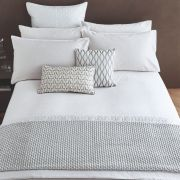 Peacock Blue Hotel Aura White Duvet Cover Set - Superking 2
