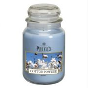 Prices Large Jar Candle Cotton Powder