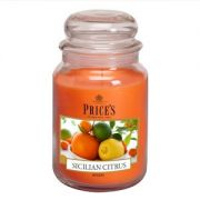 Prices Large Jar Candle Sicilian Citrus