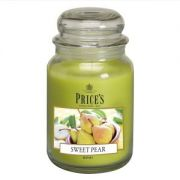 Prices Large Jar Candle Sweet Pear