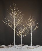 Snowtime 2.4m Birch Tree with 136 Warm White LED Lights