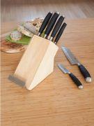Stellar James Martin 5 Piece Knife Block Set and Recipe Book Holder