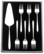 Stellar Winchester 7 Pce Cake Set w/6 Pastry Forks BW31