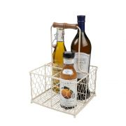 T&G Provence Wireware Four Bottle Holder Cream