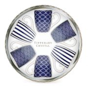 Tipperary Crystal Hat Box Set of 6 Mugs - Blue